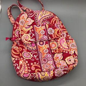 Vera Bradley red pink orange paisley soft backpack